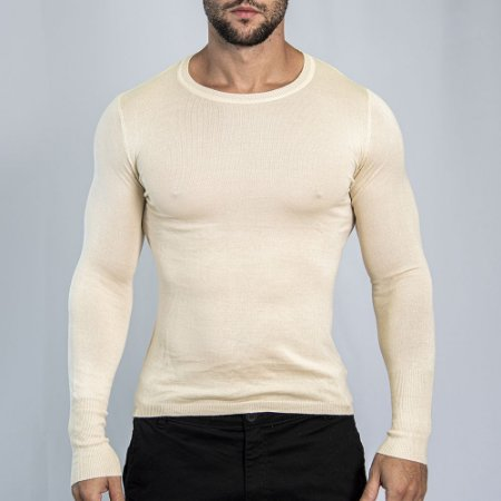 Suéter Slim Fit Man - Bege