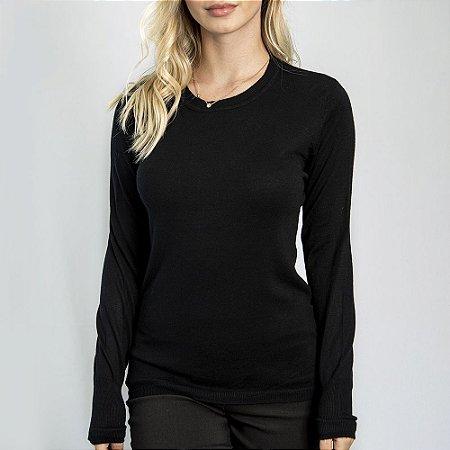 Suéter Slim Fit Girl Black