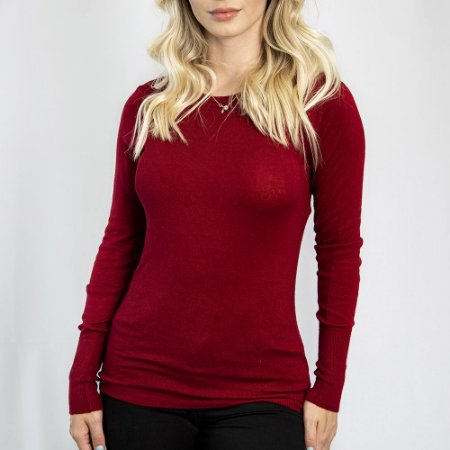 Suéter Slim Fit Girl Red