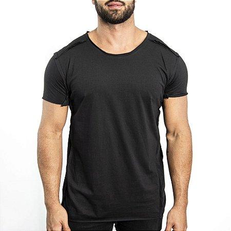 Camiseta 1/2 Malha Geometric - Preta