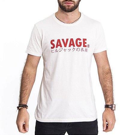 Camiseta Savage Off White- HillJack