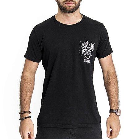 Camiseta Harvest Love Preta - HillJack
