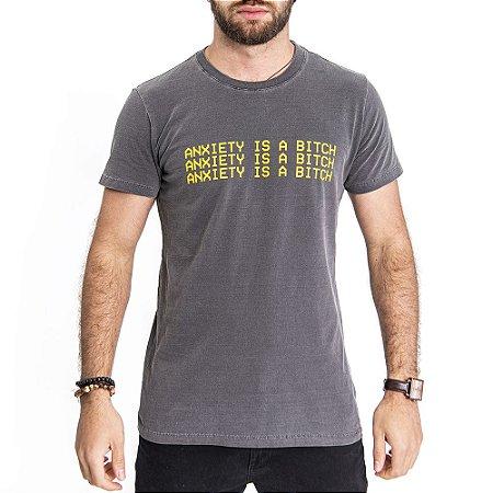 Camiseta Anxiety Chumbo - HillJack