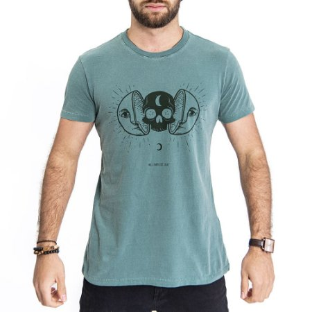 Camiseta Sun and Moon Verde - HillJack