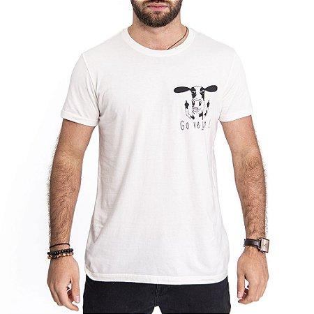 Camiseta Go Vegan Off White - HillJack