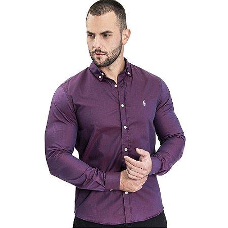 Camisa Roxa Custom Fit - Ralph Lauren