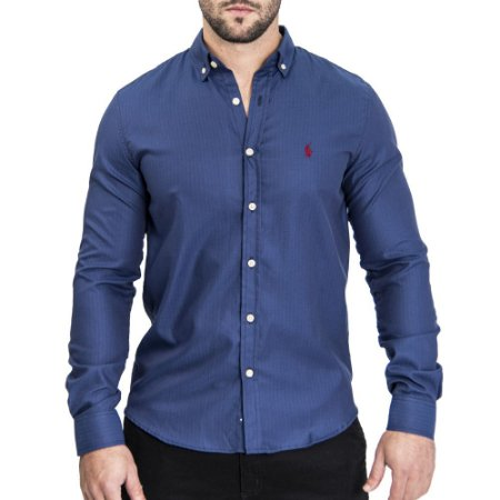 Camisa Blue Custom Fit - Ralph Lauren