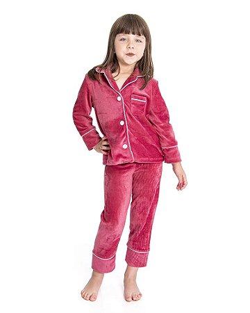 Pijama Infantil Camisaria Rose