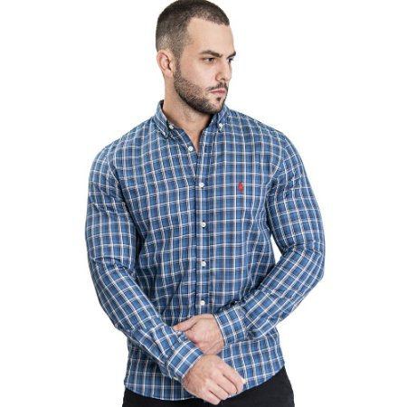 Camisa Custom Fit Rodeo Blue - Ralph Lauren