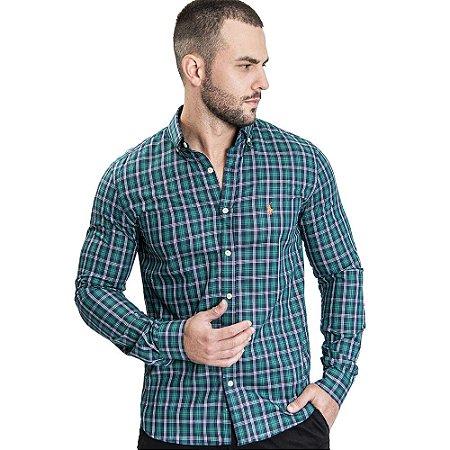 Camisa Custom Fit Rodeo Green - Ralph Lauren