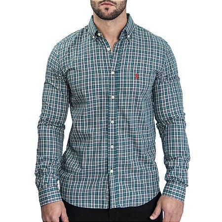 Camisa Custom Fit Glass - Ralph Lauren