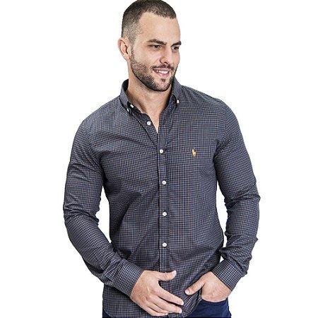 Camisa Custom Fit Brown Country - Ralph Lauren