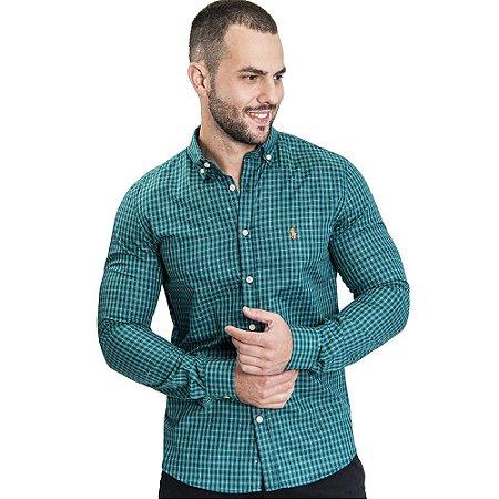 Camisa Custom Fit Green Country - Ralph Lauren