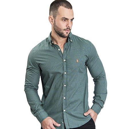Camisa Custom Fit Clouds - Ralph Lauren