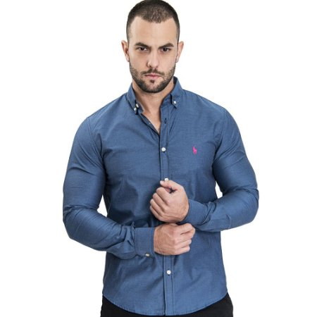 Camisa Custom Fit Sky - Ralph Lauren