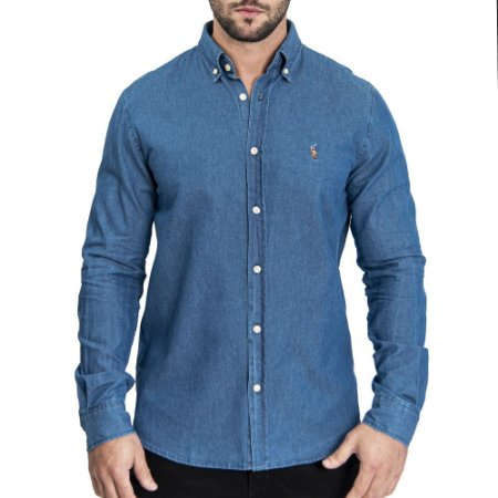 Camisa Custom Fit Jeans - Ralph Lauren
