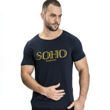 Camiseta Unissex Manhattan Marinho - SOHO