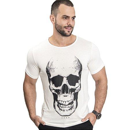 Camiseta Unissex Skull Off White - SOHO