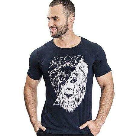 Camiseta Unissex Lion Forms Marinho - SOHO