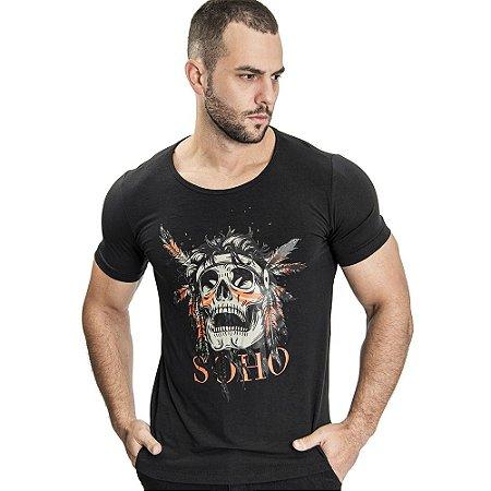 Camiseta Unissex Indian Preto - SOHO