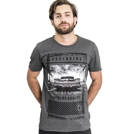 "Camiseta Skuller ""Extreme"" - Mescla Escuro"