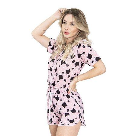 Pijama Pink Cats