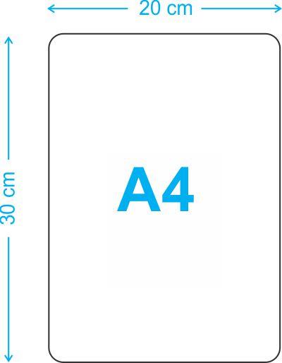 PLACA A4 EM MDF (20X30 CM)