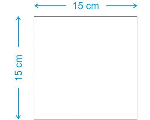 PLACA EM MDF (15X15 CM)