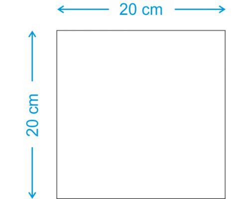 PLACA EM MDF (20X20 CM)