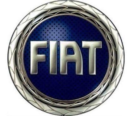 Emblema Logo Fiat Capô Curvo Com Adesivo Azul