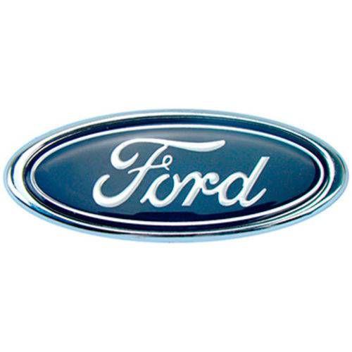Emblema Ford Oval Pequeno Azul