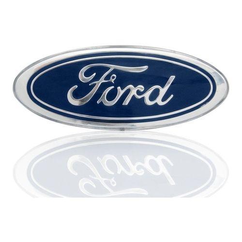 Emblema Grade F1000 Ford Oval Azul Grande