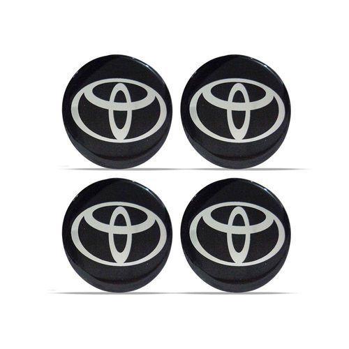 Kit 4 Emblemas Toyota Para Calota