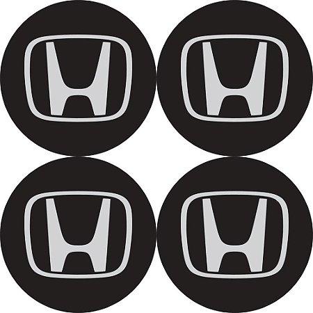 Jogo De Emblemas Adesivos Honda Para Rodas e Calotas 48mm