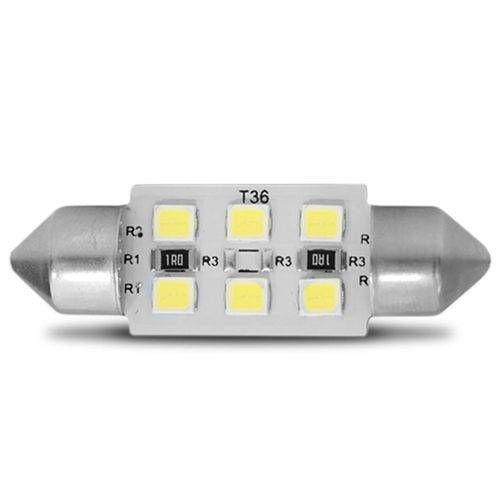 Lampada De Led Torpedo 36mm 12V Branca