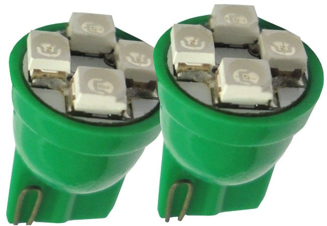 Lâmpada Led Esmagada High Power 12V Verde Par