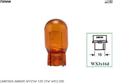 Lampada 6941 12V 21W Ambar Caixa Com 10 Unidades