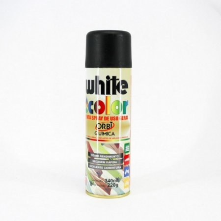 Tinta Spray Orbi Preto Fosco 340Ml 220G