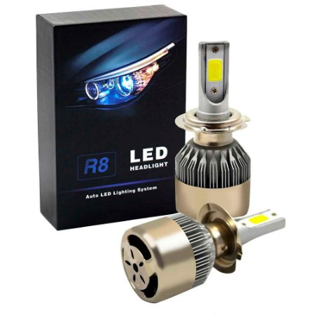 Par De Lâmpada Led Headlight R8 H4 6500k
