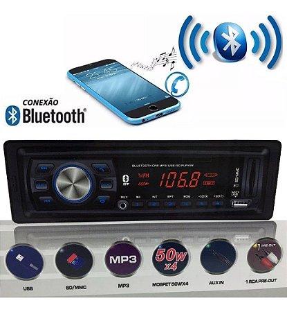 Aparelho de Som FM Bluetooth Mp3 Usb Qualyten