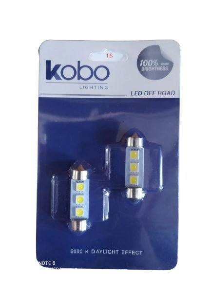 Par Lâmpada Led Torpedo 5050 39mm 12V 3 Leds