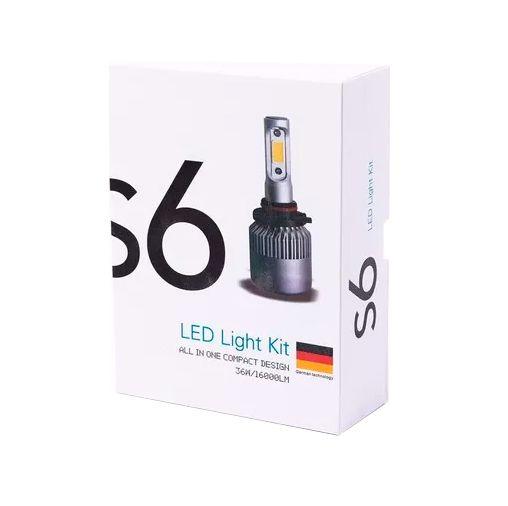 Par Lampada Led Super Light S6 H7 6500K