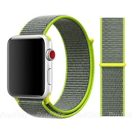 Pulseira Nylon Verde Apple Watch Iwo 8 9 10 11 12 13