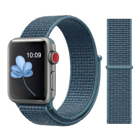 Pulseira Nylon Azul Apple Watch Iwo 8 9 10 11 12 13