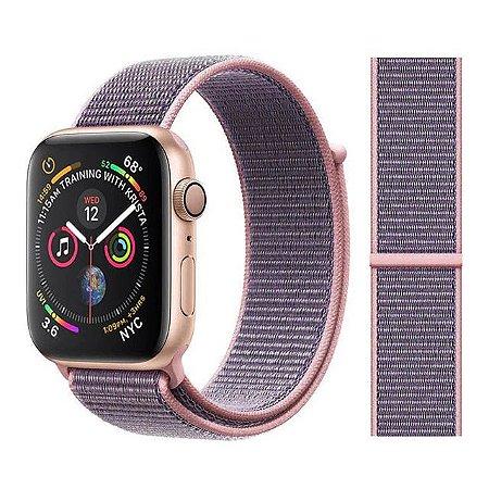 Pulseira Nylon Rosa Apple Watch Iwo 8 9 10 11 12 13