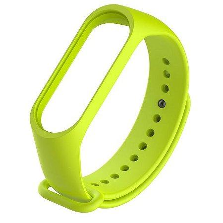 Pulseira Silicone Verde Mi Band 3 4