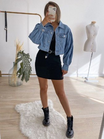 jaqueta jeans cropped clara
