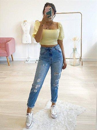 calça jeans destroyed gigi