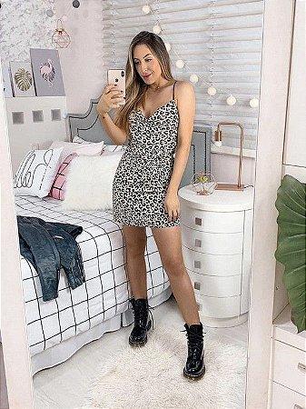 vestido leopard cindy