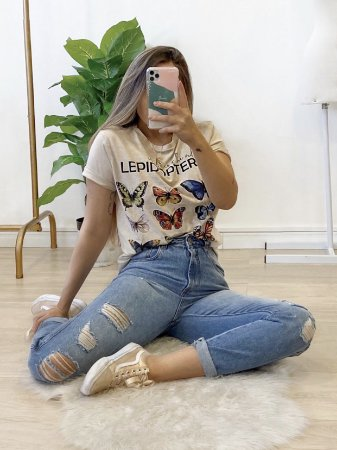 t-shirt over butterfly